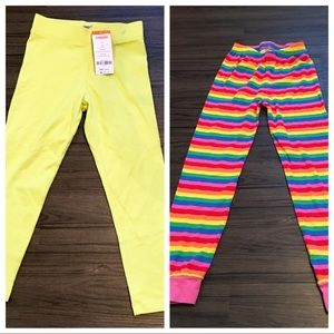 Other - Lot of 2 little girl stretchy pants size 6